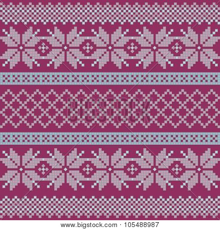 Norwegian, Christmas And Winter Seamless Patterns