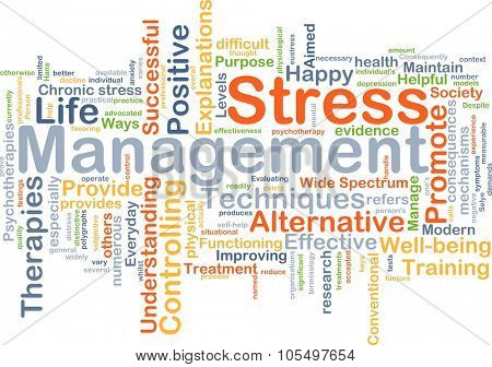 Background concept wordcloud illustration of stress management