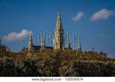 Vienna Townhall (rathaus) Towers - Vienna, Austria