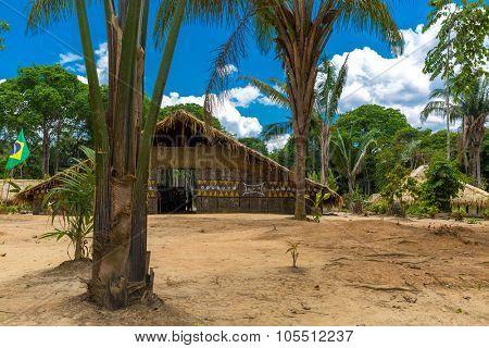 Native Brazilian Hut in the Amazon