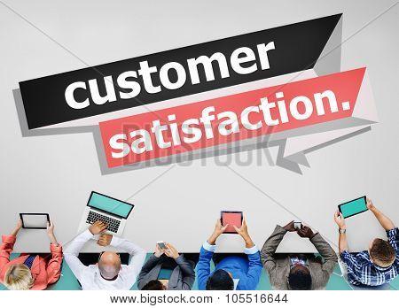 Customer Satisfaction Service Consumer Concept poster