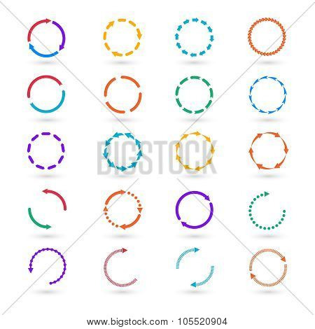 Circle arrows infographic elements vector set