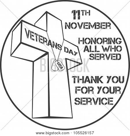 veterans day sign illustration design over a blank background poster