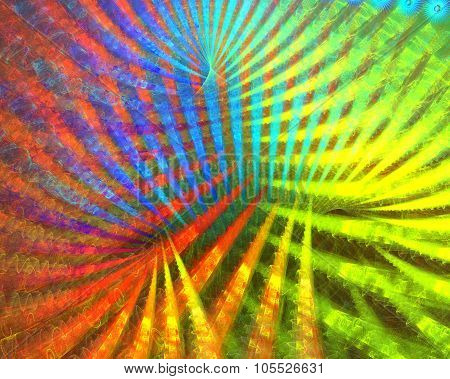 Fractal background of dirty beam