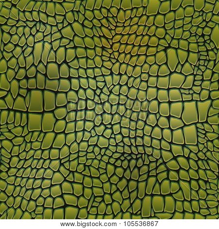 Vector Illustration Of Alligator Skin Seamless Crocodile