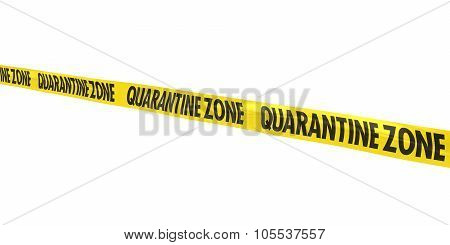 Quarantine Zone Tape Line At Angle