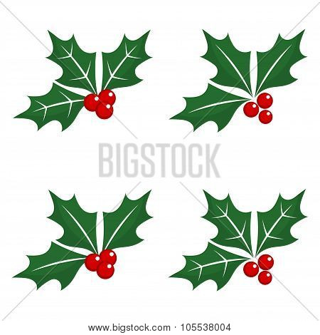 Christmas Holly Berry Icons