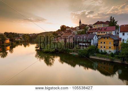 View Of Novo Mesto And River Krka. Slovenia