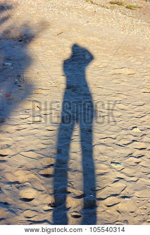 silhouette on the sand