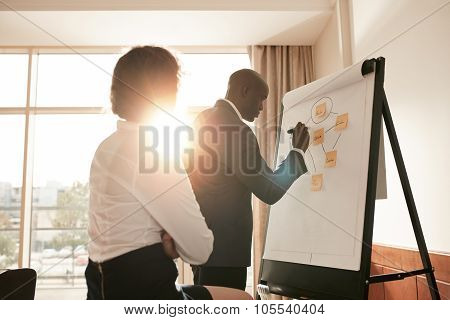 Corporate People Discussing New Business Prospectus