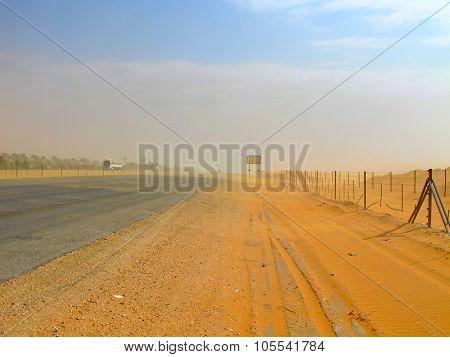 Road trough the desert Riyadh-Makkah(Mecca) highway in Saudi Arabia