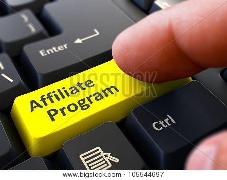 Affiliate Program - Written on Yellow Keyboard Key.