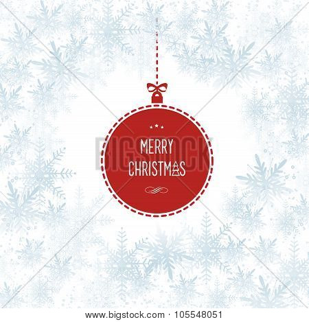 Snowflakes Christmas Hollyday Vector Background