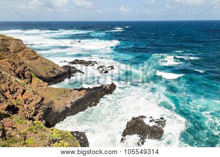 rock on the ocean