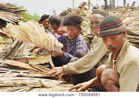 Men Working In Nagaland, India