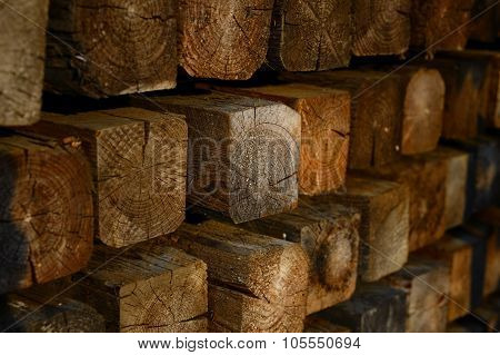 A lumberyard with a lot of Lumber