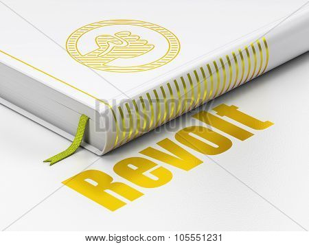 Politics concept: book Uprising, Revolt on white background