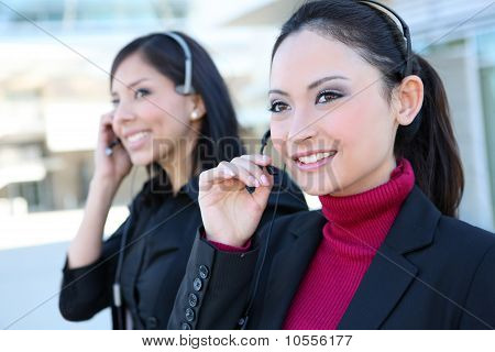 Business Women At Office