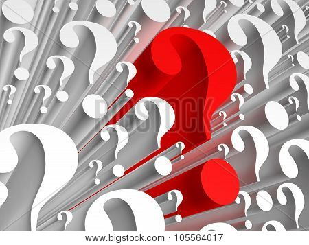 Background Consisting Of Question Marks