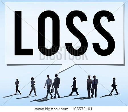 Loss Recession Deduction Financial Crisis Concept poster