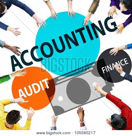 Accounting Audit Finance Economic Capital Concept poster