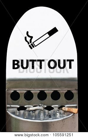 Cigarette Butt Out Sign
