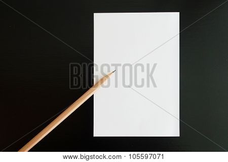 Blank Note With Pencil