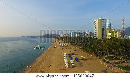Beach in Nha Trang city, Khanh Hoa, Vietnam
