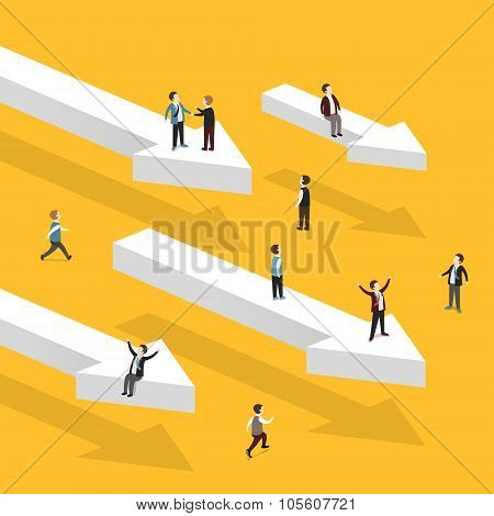 Heading For Success Concept