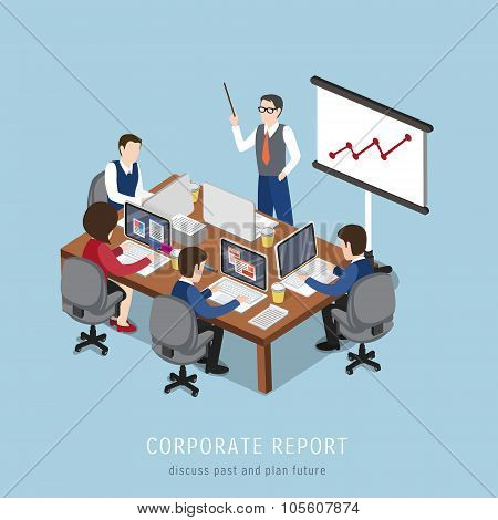 Corporate Report Concept