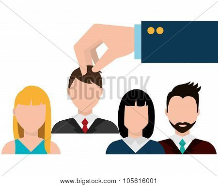 Find person for job opportunity, vector illustration design poster