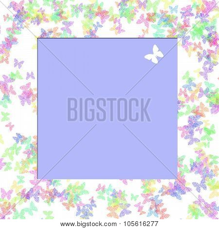 butterfly scrapbook frame