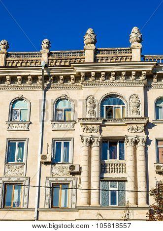 Building On Boulevard Stefan Cel Mare In Chisinau