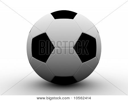 Football Isolated On White Background