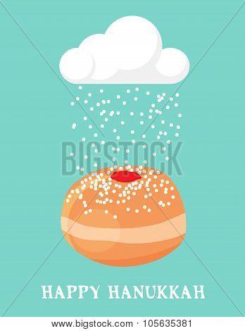 abstract card for hanukka, jewish holiday