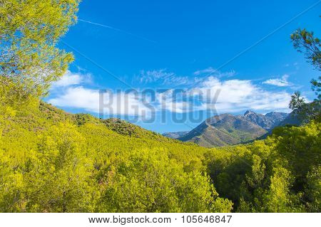 Landscape with clouds, Spain.