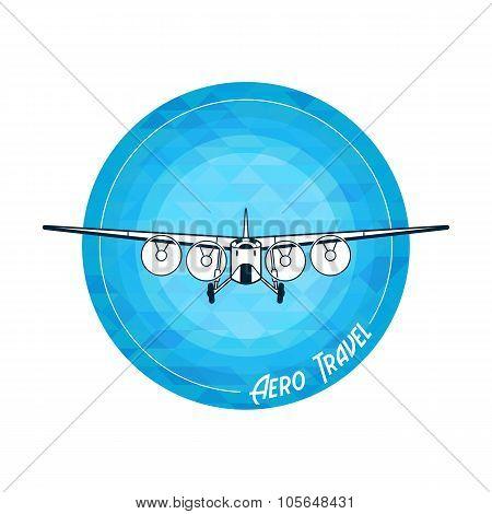 Vector retro plane