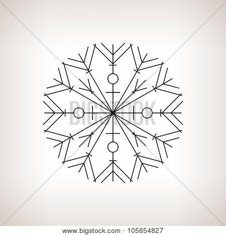 Snowflake ,Happy New Year