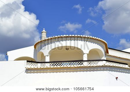 Architectural detail of a Portuguese villa