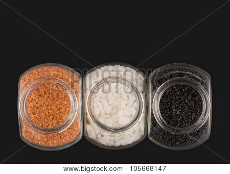 Gourmet Sea Salts In Glass Containers