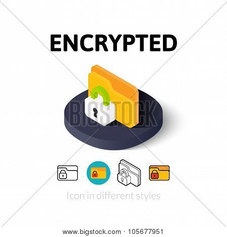 Encrypted icon in different style