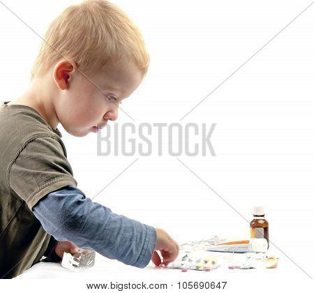 Boy Plays Pills