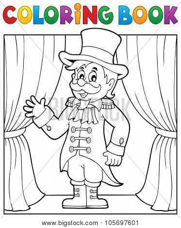Coloring book circus ringmaster theme 1 - eps10 vector illustration.
