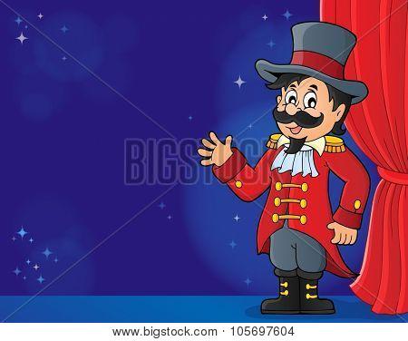 Circus ringmaster theme image 4 - eps10 vector illustration.