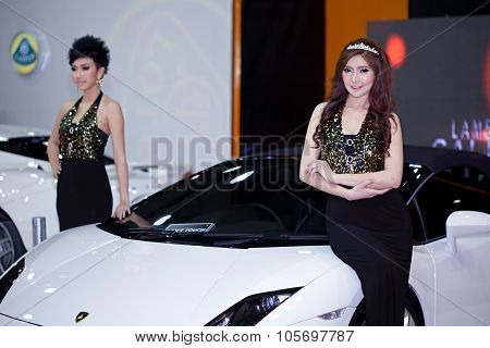 Bangkok - May 20 : Lotus Exige With A Model On Display During The