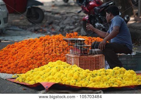 Pune, India - October 21, 2015: Flower Shop