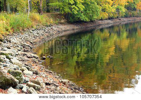 River bay.