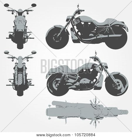 Front, top and side chopper projection