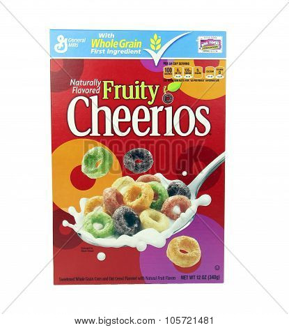 Box Of General Mills Fruity Cheerios Cereal