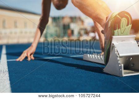 Sprint Start On Race Track